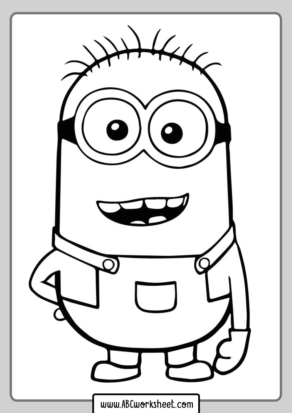 Coloring Minions Coloring Pages for Kids - ABC Worksheet