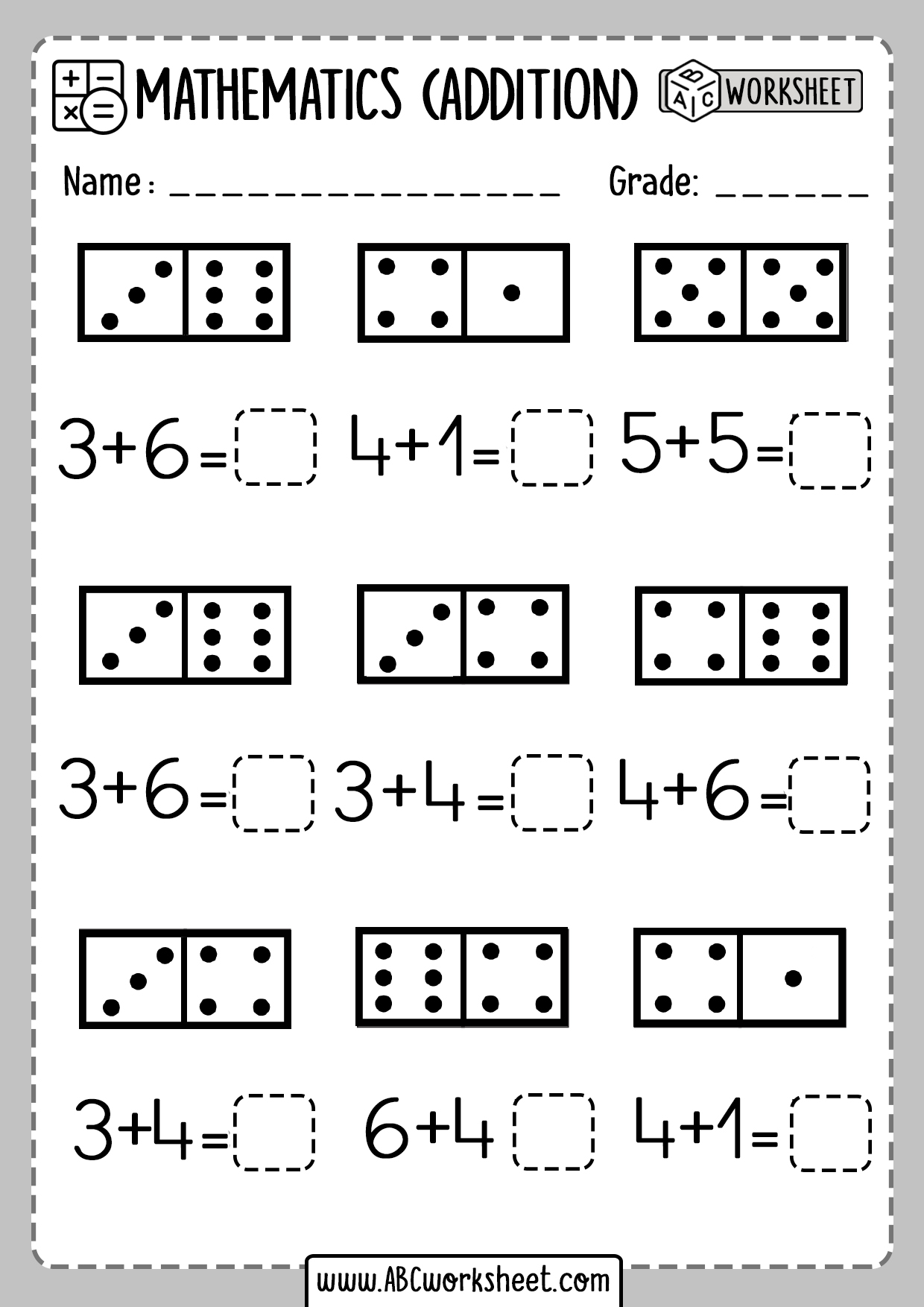 Simple Addition Worksheets With Pictures For Kindergarten