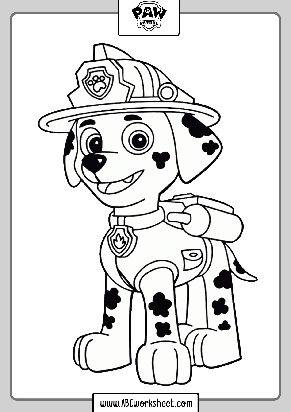 Paw Patrol Coloring Pages - ABC Worksheet