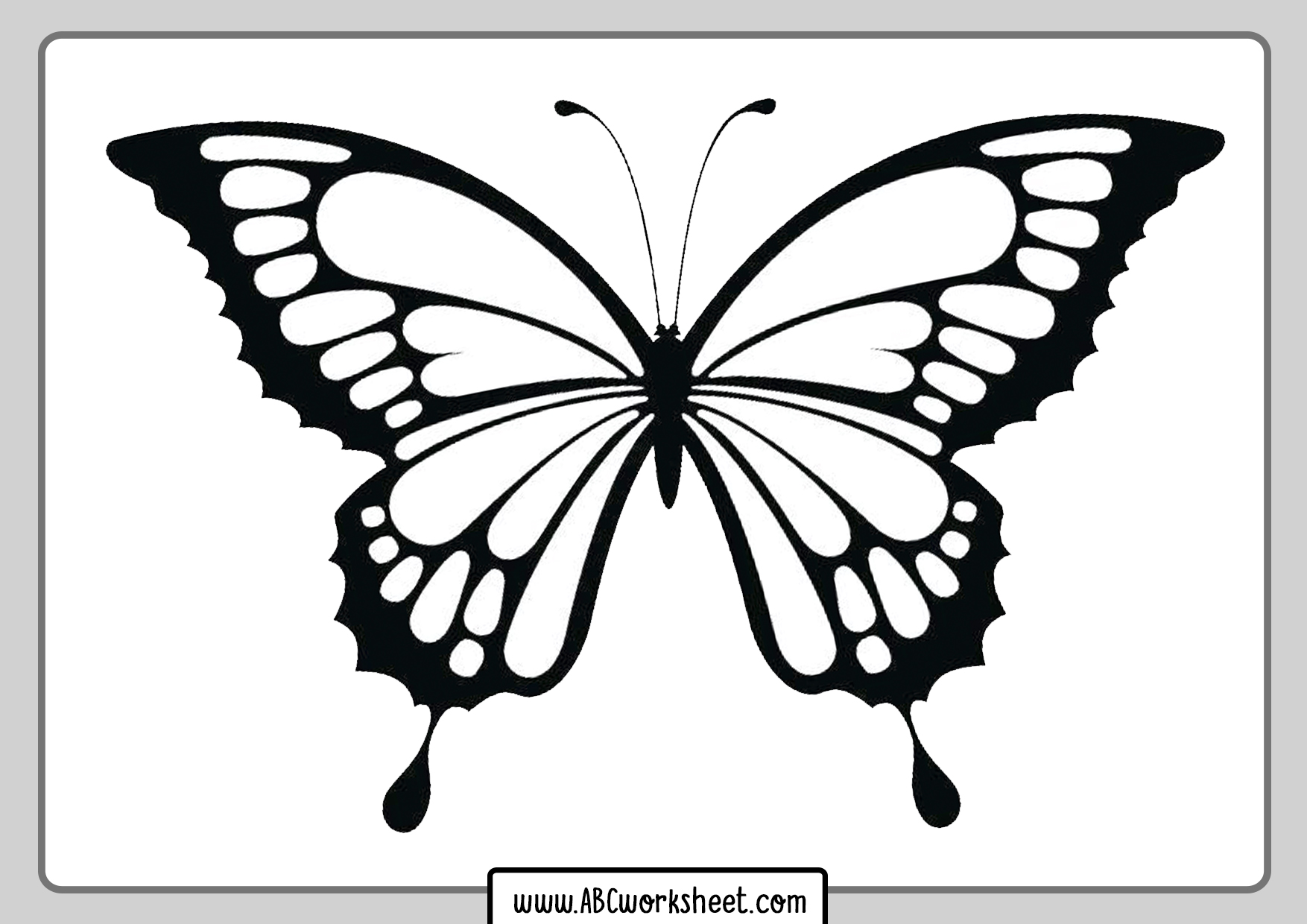 Printable Butterly Coloring Pages